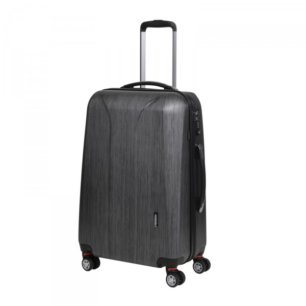 March15 New Carat Trolley 65 cm 4 Rollen black brushed Schrägansicht