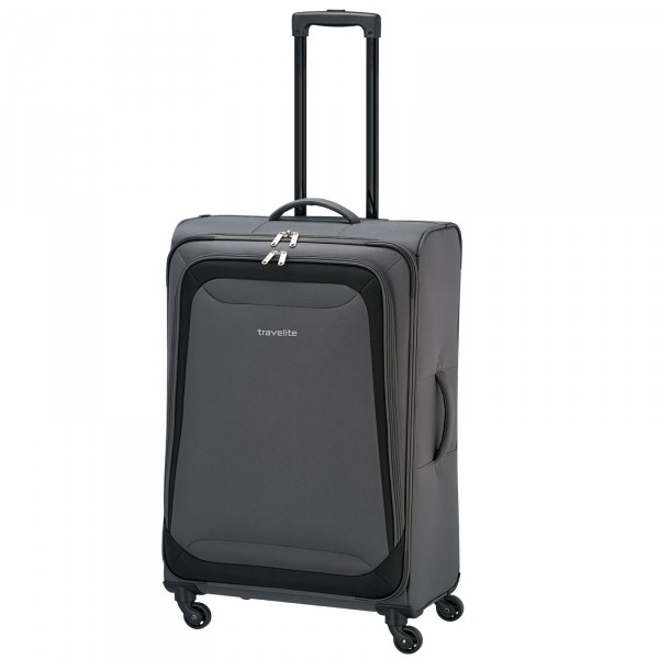 travelite Naxos Trolley 64 cm 4 Rollen anthrazit