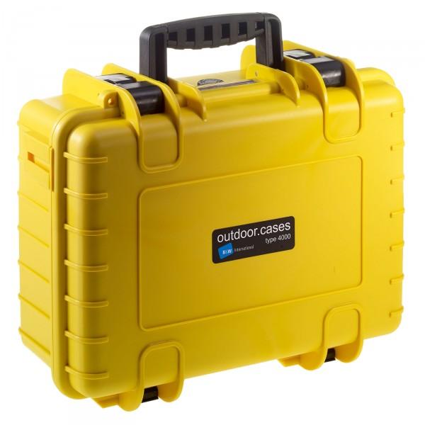 B&W Outdoor Case Typ 4000 gelb - Vorderansicht