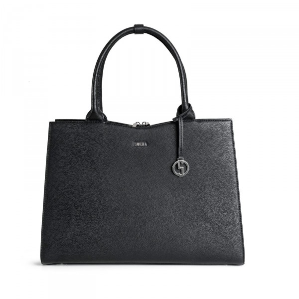 SOCHA Business-Handtasche Straight Line 44 cm Black Frontansicht