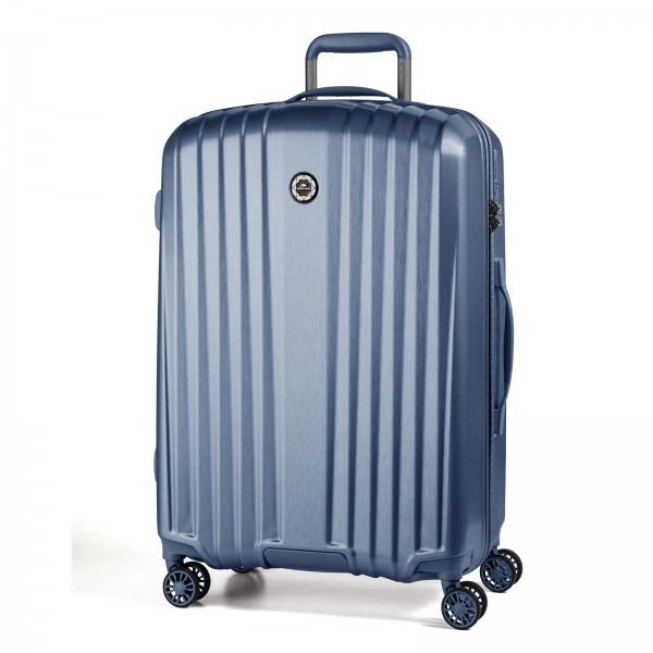 March15 Everest Trolley 77 cm 4 Rollen mid blue Schrägansicht Frontansicht