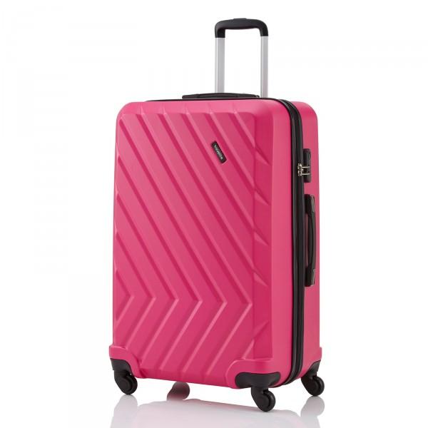 travelite Quick Trolley 74 cm 4 Rollen pink Schrägansicht