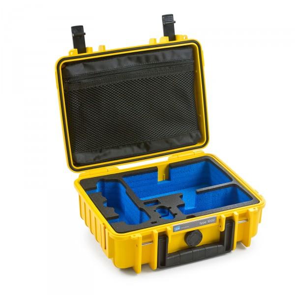 B&W Copter Case Typ 1000 für DJI Mavic Air gelb offen leer
