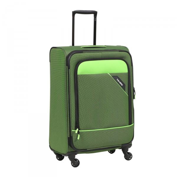 Travelite Derby Modell 2018 Trolley 77 cm 4 Rollen erweiterbar grün
