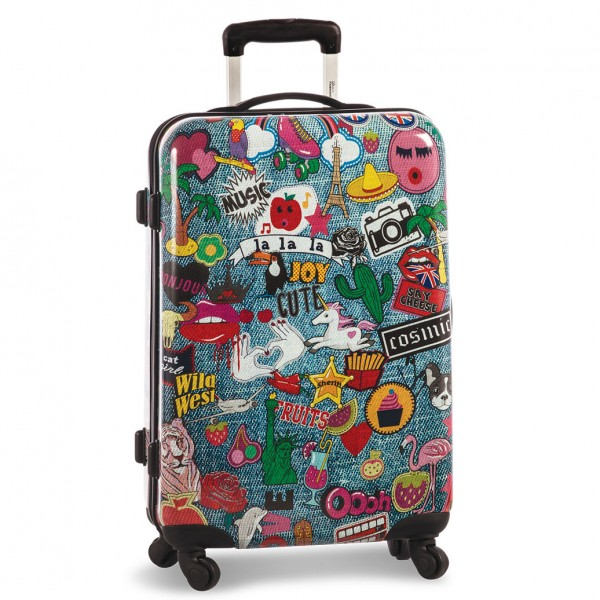 Fabrizio Patches Trolley 68 cm 4 Rollen Patches Frontansicht