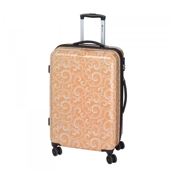 CHECK.IN Bombay Trolley 69 cm 4 Rollen apricot Frontansicht