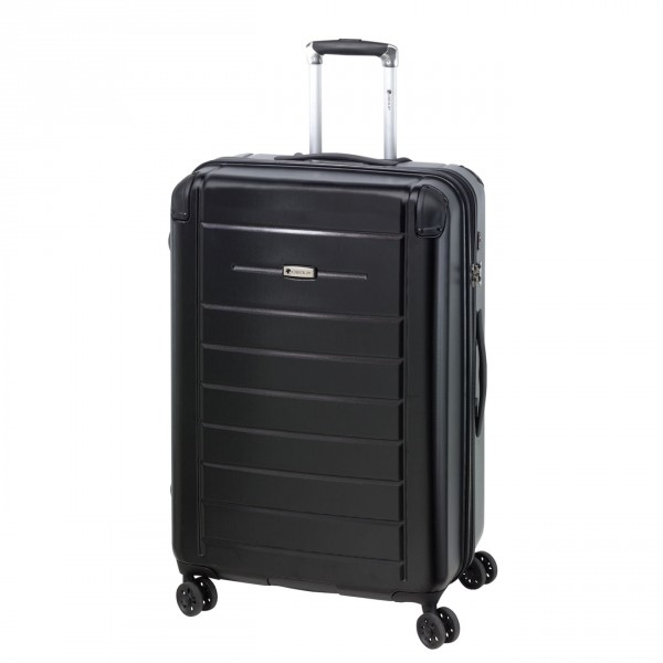 CHECK.IN Helsinki Trolley 63 cm 4 Rollen black Frontansicht