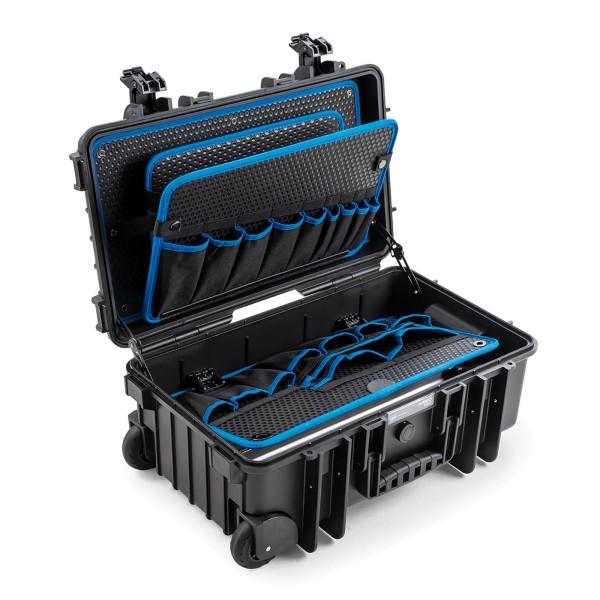 B&W JUMBO 6600 Werkzeugkoffer POCKETS 2 Rollen black