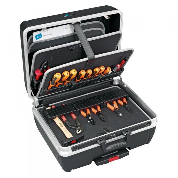 B&W Top Case Trolley-Werkzeugkoffer Typ rhino - mit MODUL-Werkzeugtafel gefüllt