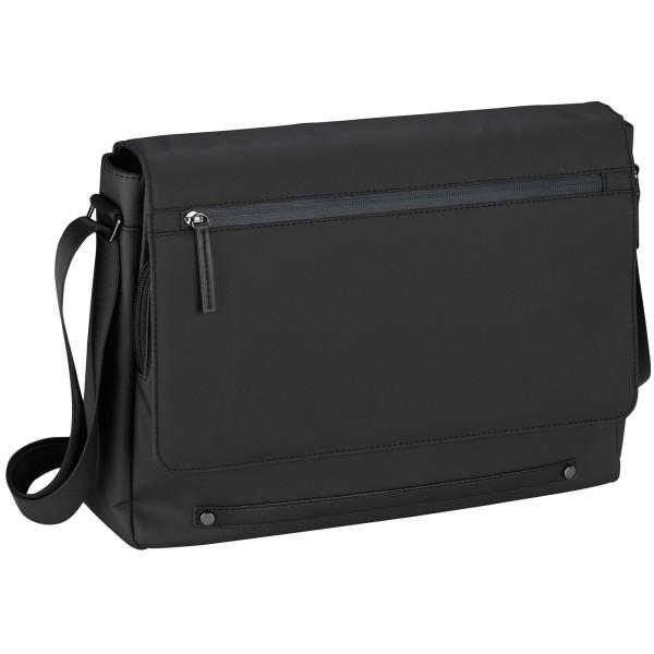 d&n Basic Line Messenger Bag 40 cm schwarz