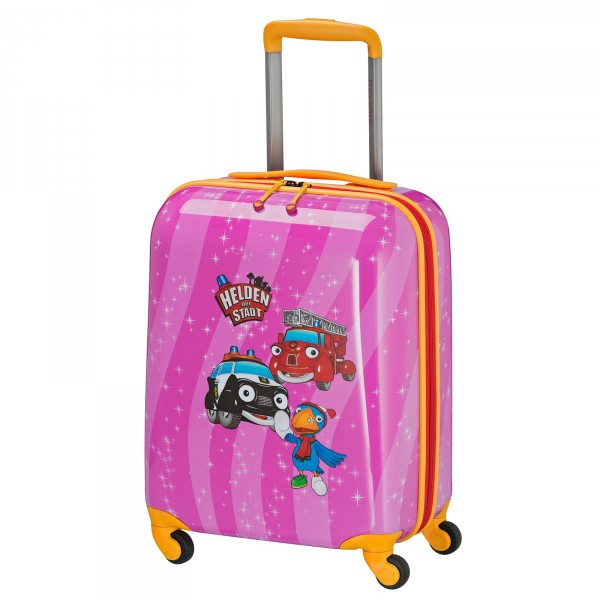 travelite HELDEN DER STADT Kindertrolley 47 cm 4 Rollen pink