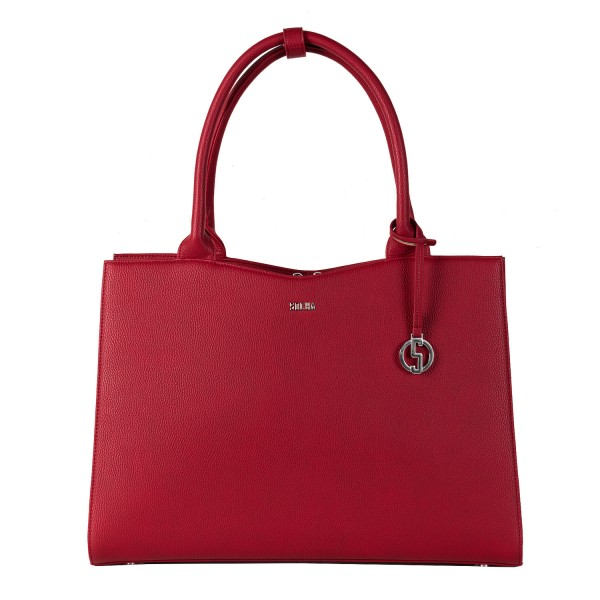 SOCHA Business-Handtasche Straight Line 44 cm Red Frontansicht