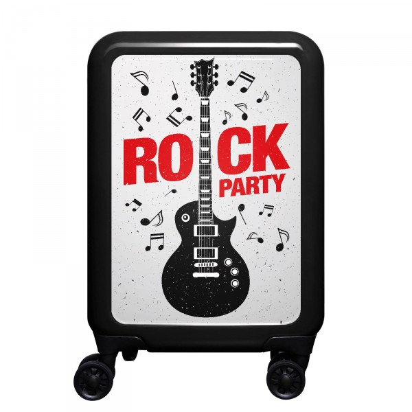 meinTrolley Rockparty 55cm 4 Rollen schwarz