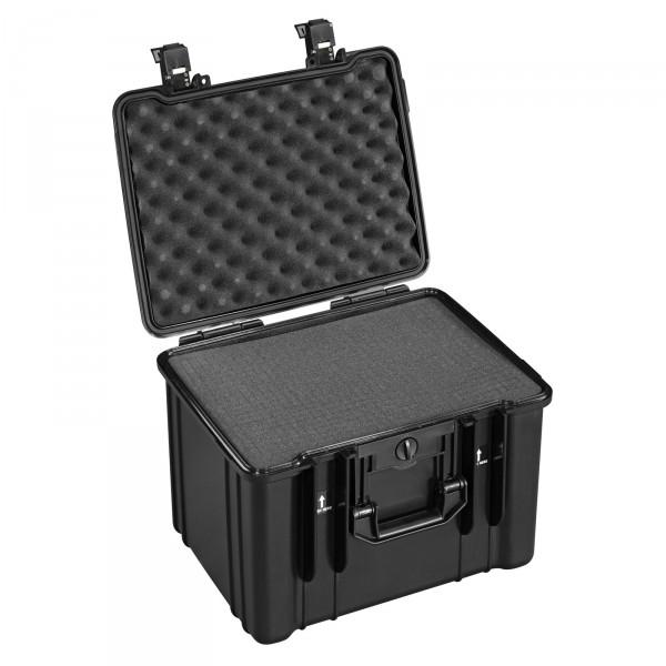B&W Outdoor Case Typ 55 schwarz - mit Schaumstoffeinsatz