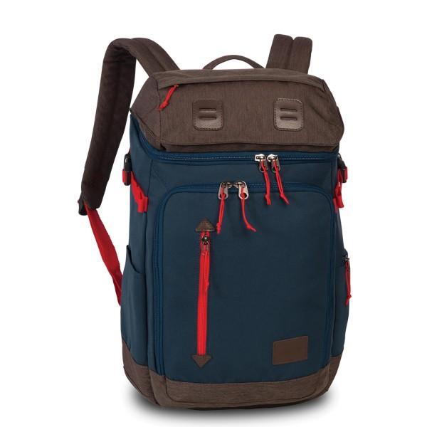 Fabrizio Best Way Stay Wild Rucksack 45 cm marineblau