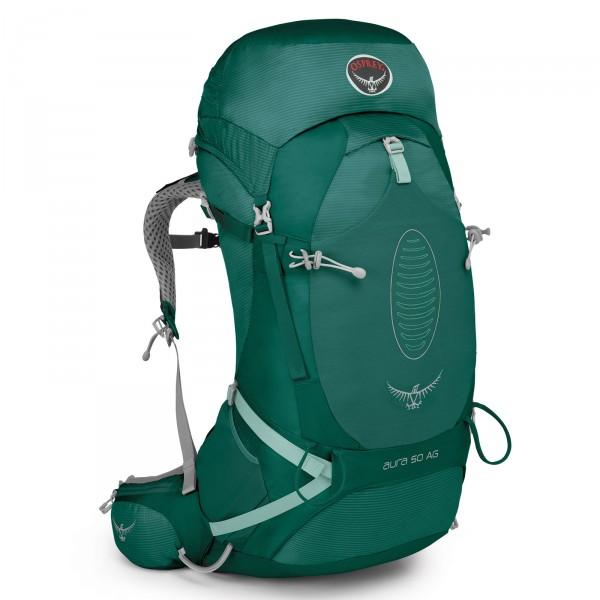 Osprey Aura AG 50 Trekking-Rucksack 75 cm Rainforest Green - Frontansicht
