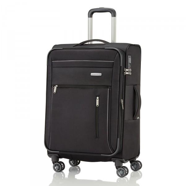 travelite Capri Trolley 66 cm 4 Rollen erweiterbar schwarz - Frontansicht