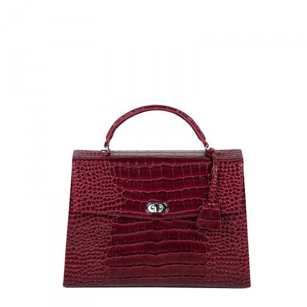 SOCHA Business-Handtasche Audrey Croco 40 burgundy Frontansicht