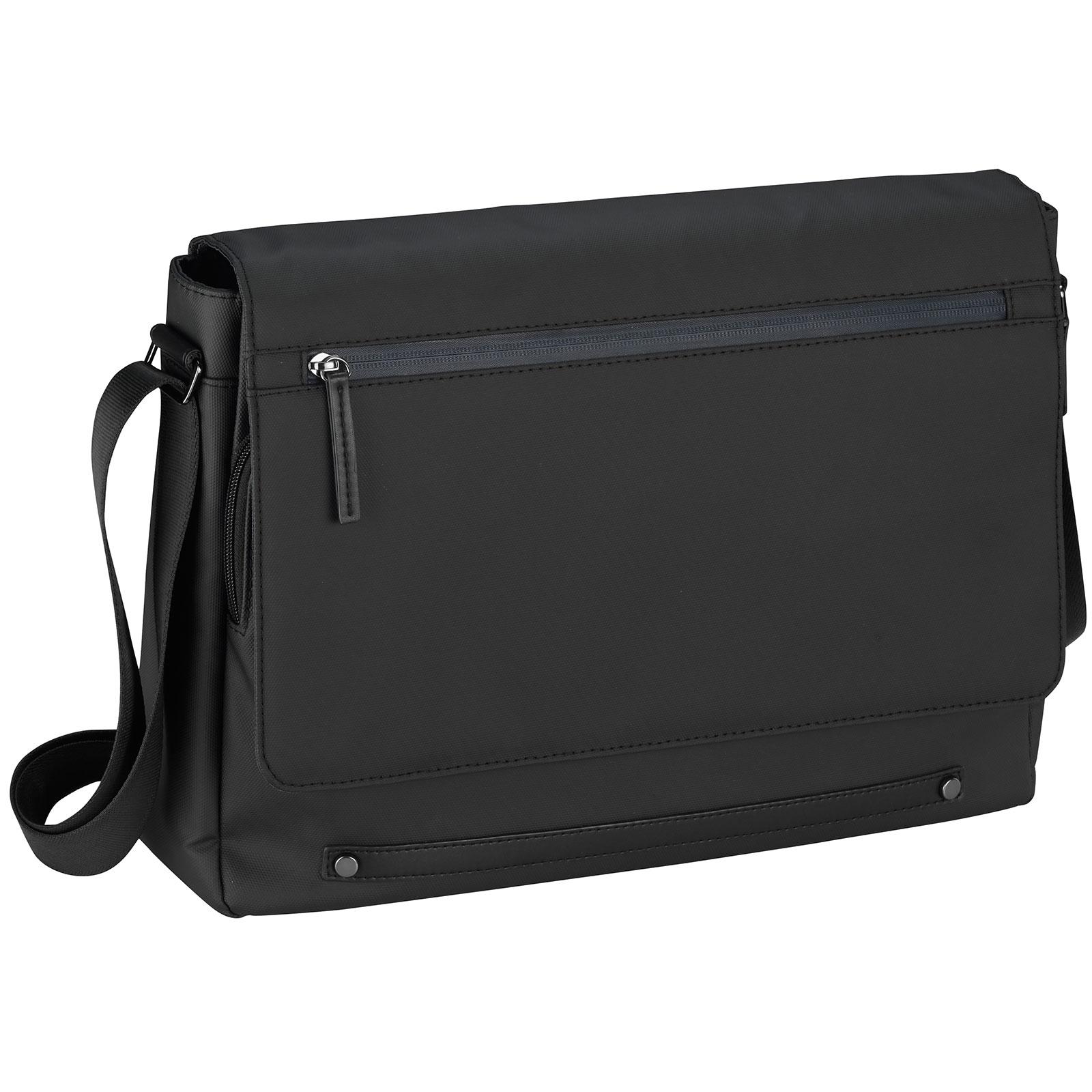 d&n Lederwaren d&n Basic Line Messenger Bag 40 cm 12 l - Schwarz 5315 01