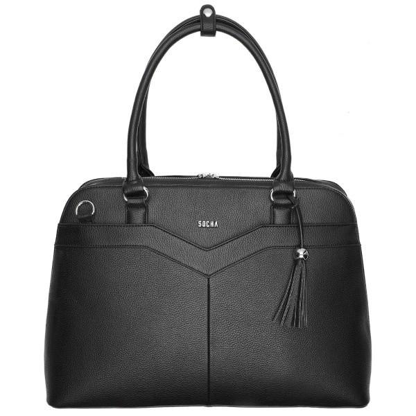 SOCHA Couture V Business-Handtasche 44 cm schwarz