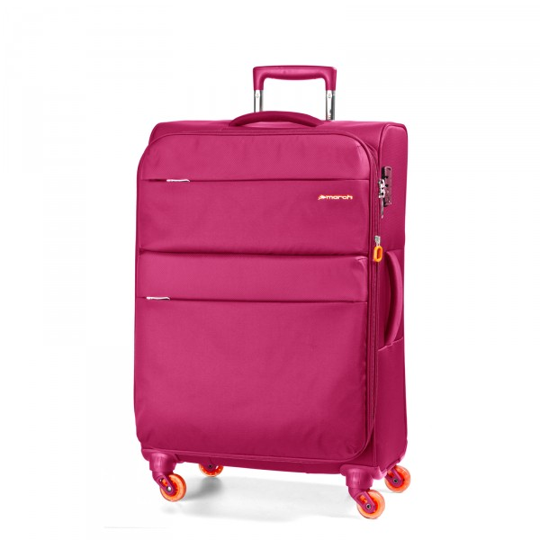 March15 Elle Trolley 67 cm 4 Rollen fuchsia - Frontansicht