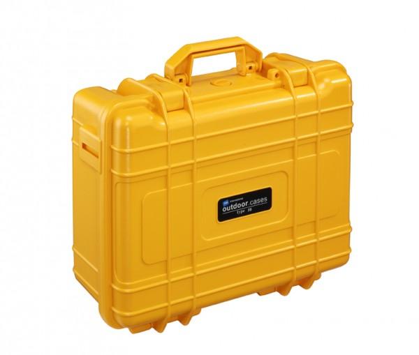 B&W Outdoor Case Typ 50 orange - geschlossen