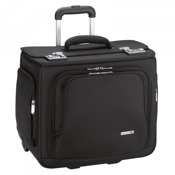 d&n Business & Travel Pilotenkoffer 43 cm 2 Rollen schwarz