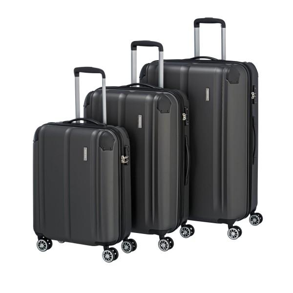 travelite City Kofferset L/M/S erweiterbar anthrazit
