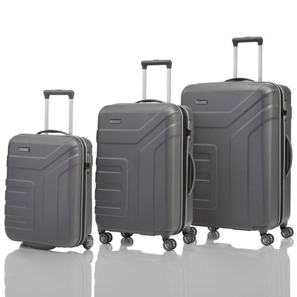 travelite Vector Trolley Set 55/70/77 cm 4 Rollen anthrazit