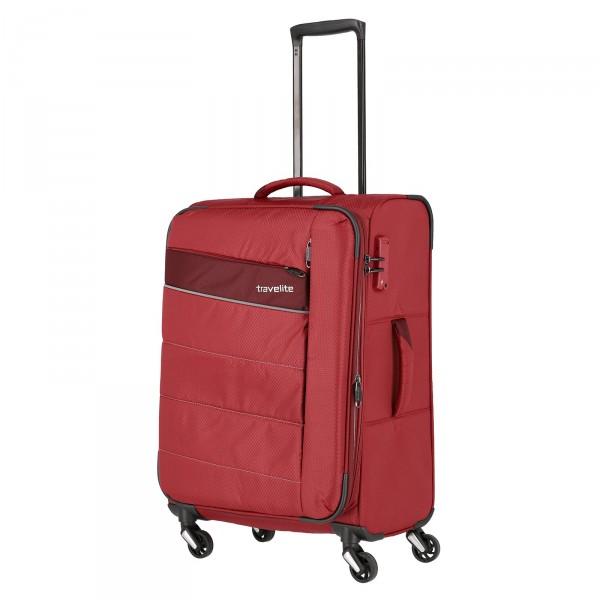 travelite Kite Trolley 64 cm 4 Rollen erweiterbar rot