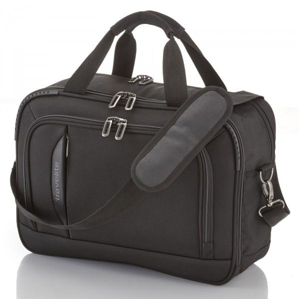 travelite CrossLITE Bordtasche schwarz - Frontansicht