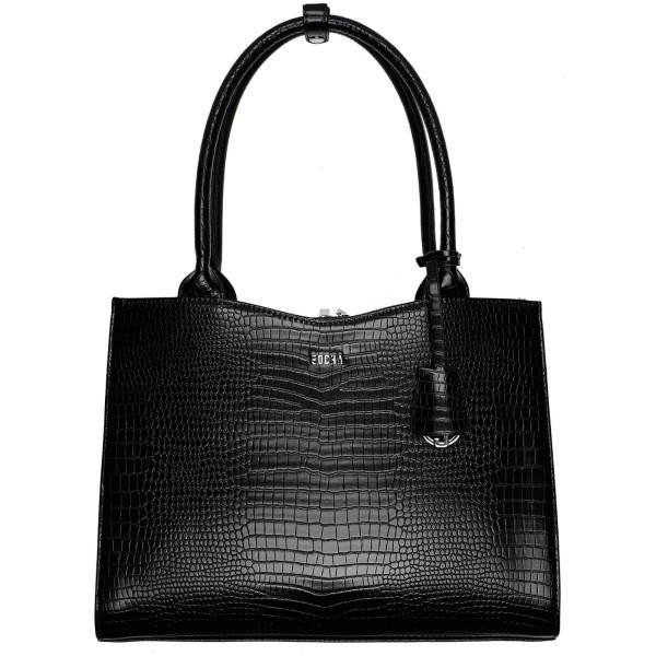 SOCHA Midi Croco Business-Handtasche 39 cm black