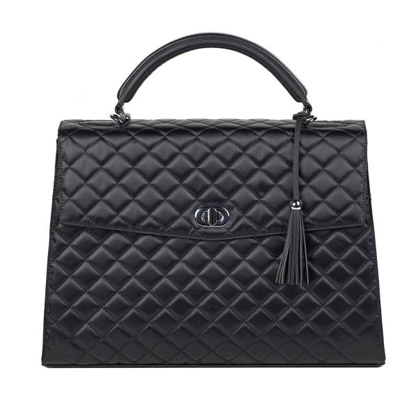 SOCHA Business-Handtasche Audrey Diamond 40 cm schwarz
