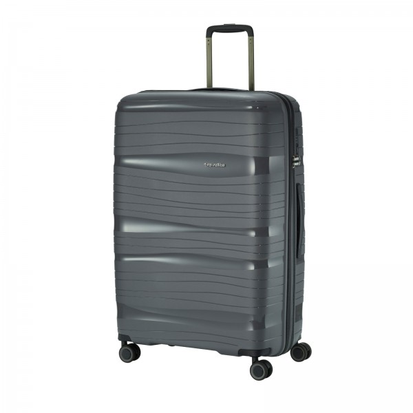 travelite Motion Trolley 77 cm 4 Rollen anthrazit Schrägansicht