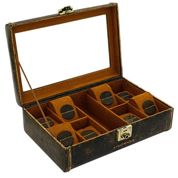Friedrich|23 Cubano Uhrenkoffer aus Leder für 8 Uhren