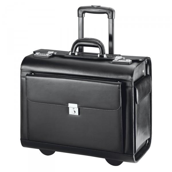 d&n Business & Travel Pilotenkoffer 45 cm 2 Rollen schwarz - Frontansicht