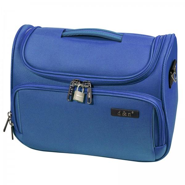 d&n Travel Line 7904 Beautycase 33 cm blau Frontansicht
