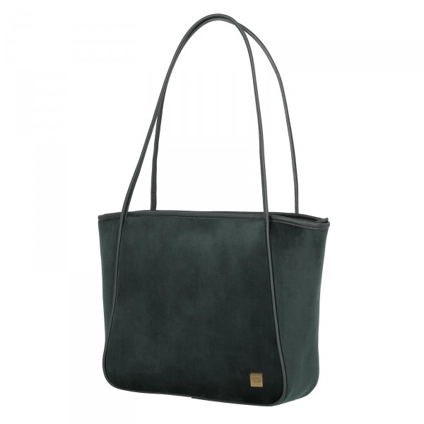 TITAN Barbara Velvet Shopper 31 cm forrest green
