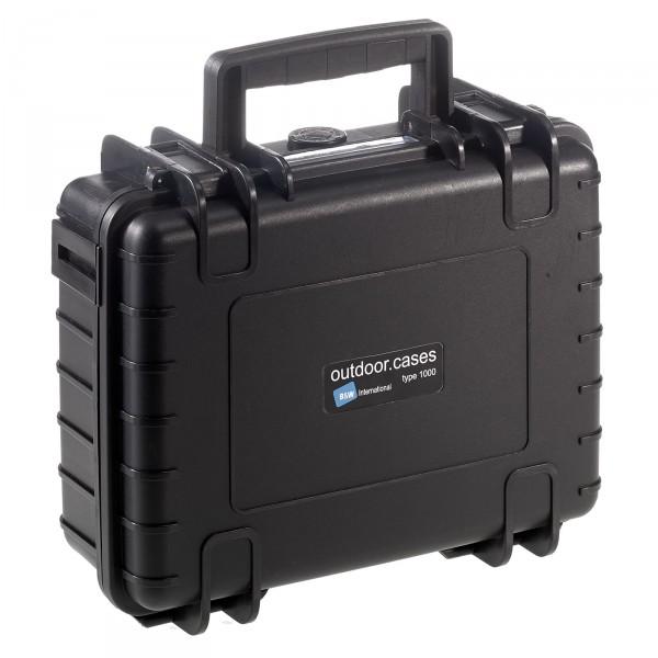 B&W Outdoor Case Typ 1000 schwarz - Vorderansicht