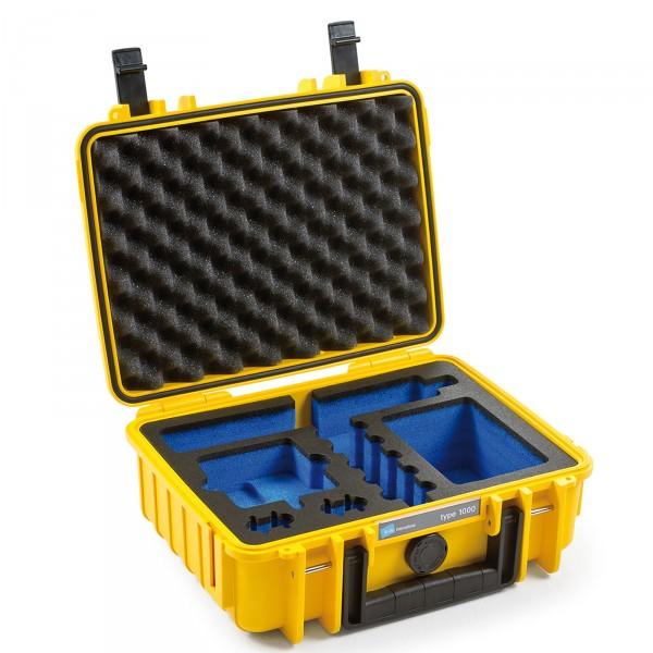 B&W GoPro Case Typ 1000 für GoPro Fusion yellow Innenansicht leer