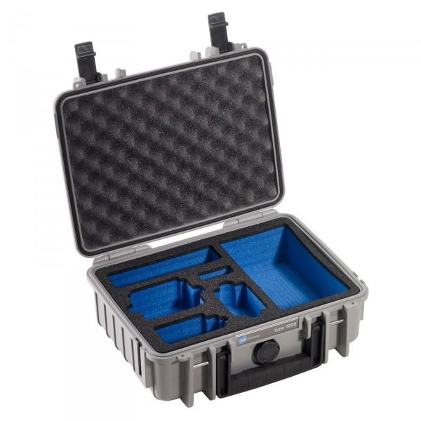 B&W GoPro Case Typ 1000 grau mit Schaumstoffeinsatz für GoPro HERO3 - Frontansicht