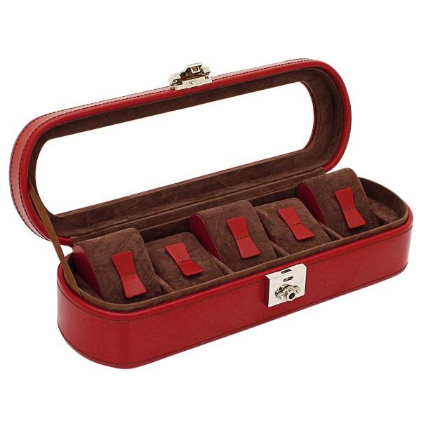 Friedrich|23 Cordoba Uhrenkoffer aus Leder für 5 Uhren