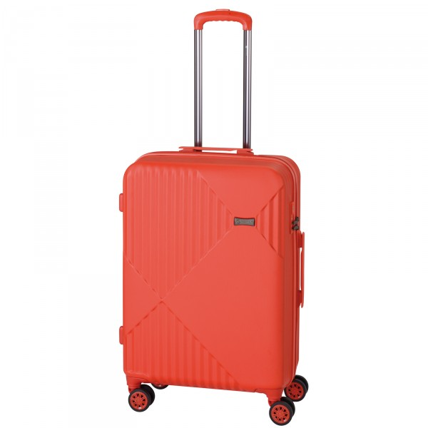 CHECK.IN Liverpool Trolley 68 cm 4 Rollen rot Frontansicht