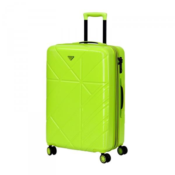 Titan Runner Trolley 67 cm 4 Rollen erweiterbar green Schrägansicht