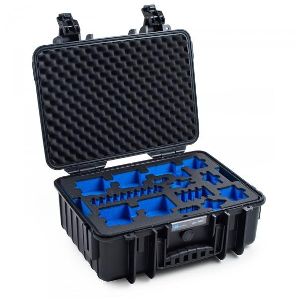 B&W GoPro Case Typ 4000 in schwarz für GoPro Hero 5 Front