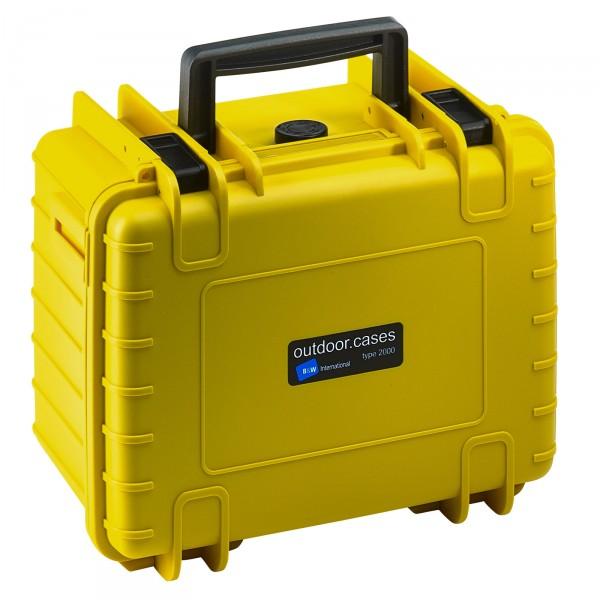 B&W Outdoor Case Typ 2000 gelb - Vorderansicht