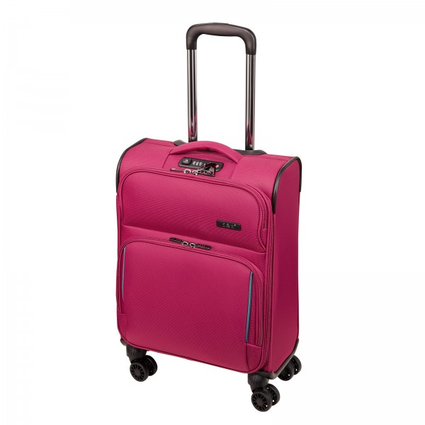 d&n Travel Line 7904 Kabinentrolley 54 cm 4 Rollen pink Frontansicht