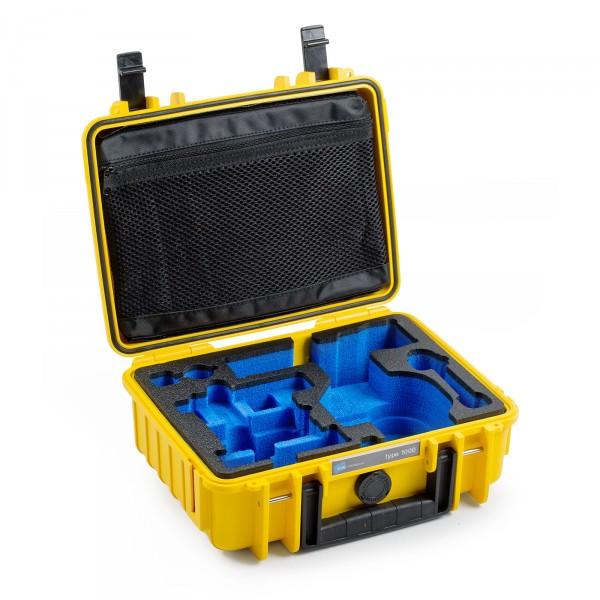 B&W Osmo Case Typ 1000 für DJI OSMO X3 / Plus gelb Innenansicht leer