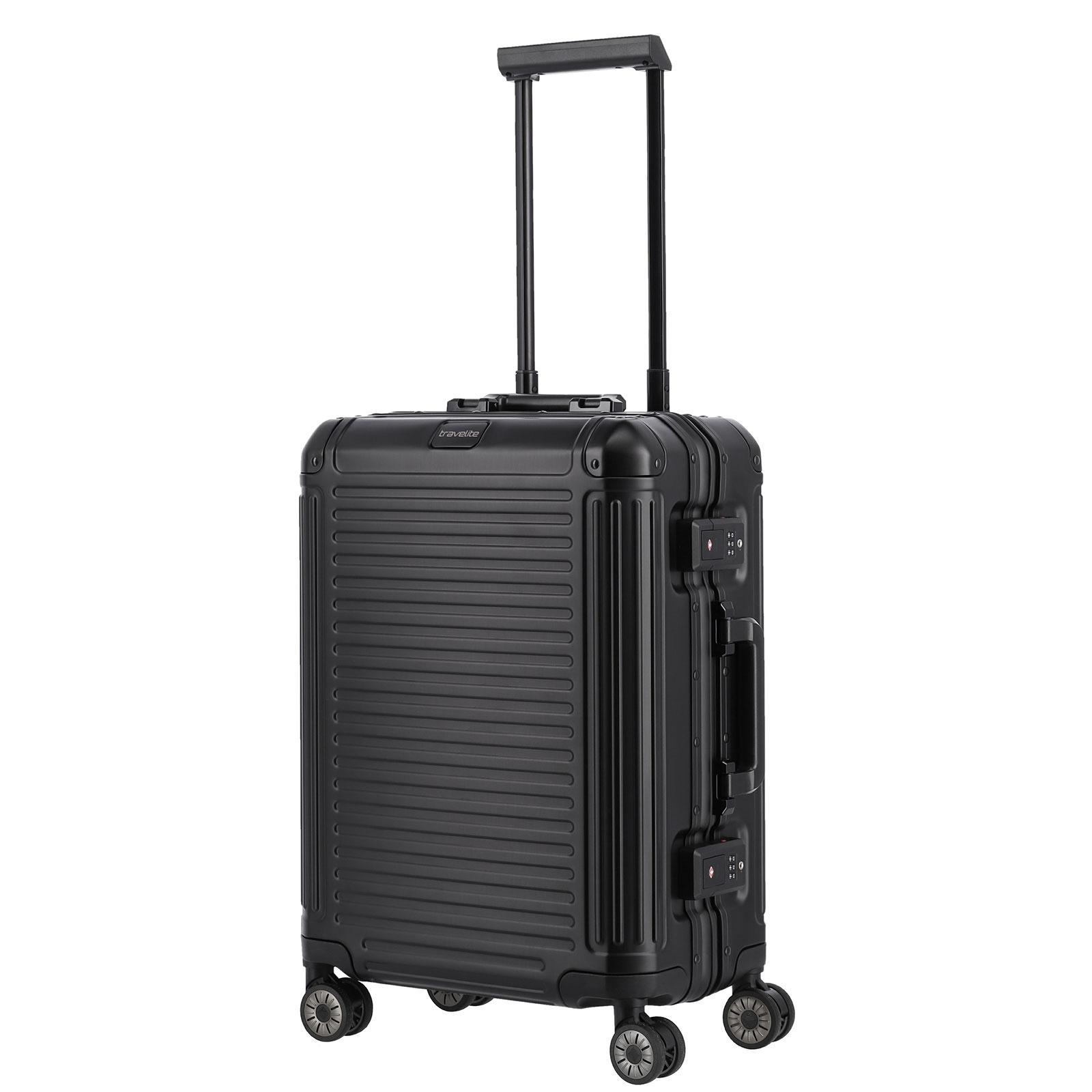 Koffer travelite Next Handgepäck Trolley S, 4 Rollen, 55 cm, 39  L, Schwarz