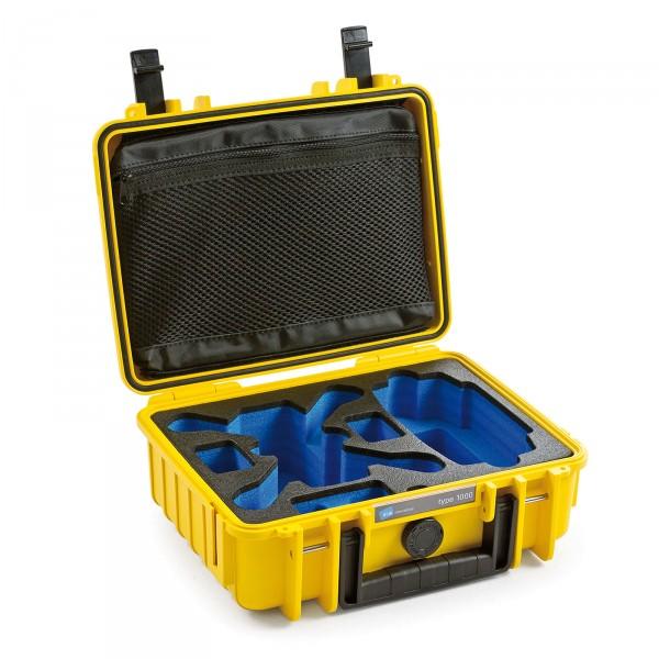 B&W Copter Case Typ 1000 für DJI Spark gelb offen leer